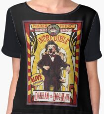 Dandan the Dog Man- Vintage Sideshow Poster Women's Chiffon Top