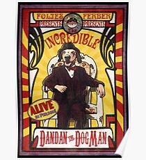 Dandan The Dog Man Vintage Sideshow Poster