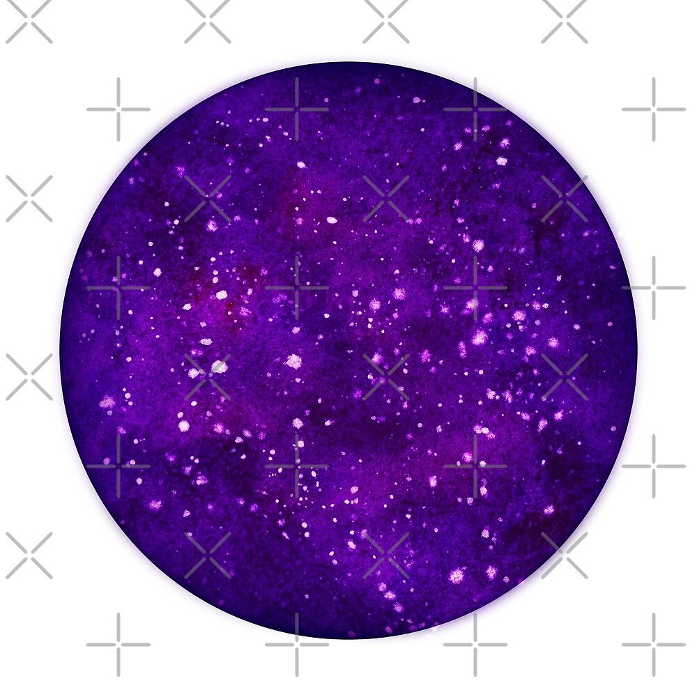 Watercolor illustration of a starry sky. by radugaart