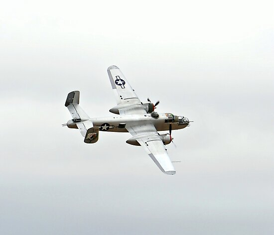 WW II B-25 Mitchell Bomber in Color by Amy McDaniel