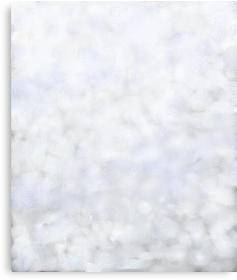 Soft Fluffy Winter Snow Abstract by Katherine Friesen