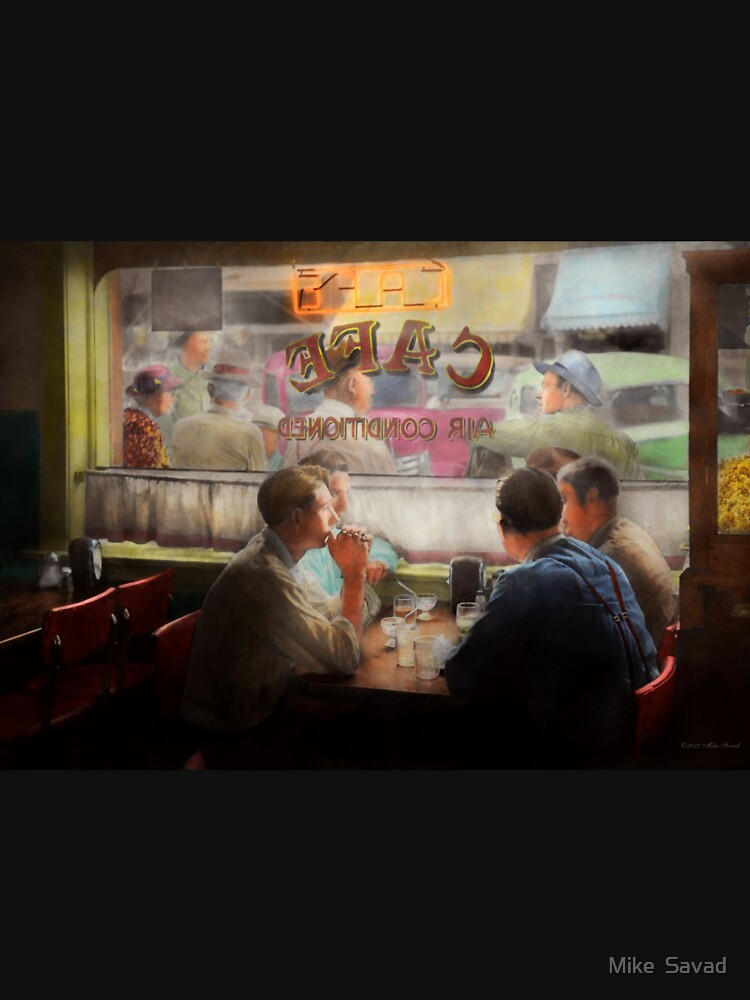 Cafe - Cold drinks with friends 1941 by mikesavad
