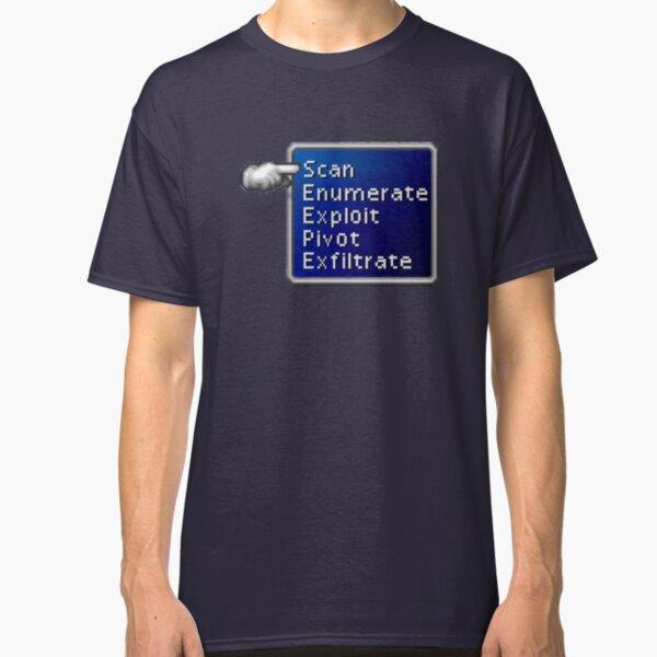Hacker's FF7 Battle Menu Classic T-Shirt