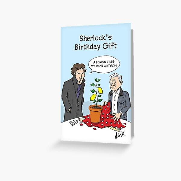 Sherlock Birthday  Greeting Card