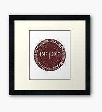Reformation Anniversary 1517 - 2017 Celebration 5 Solas Framed Print