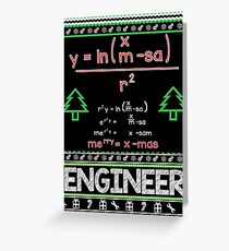 Merry Christmas Mathematical Formula Greeting Card