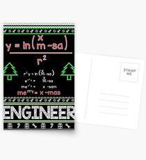 Merry Christmas Mathematical Formula Postcards