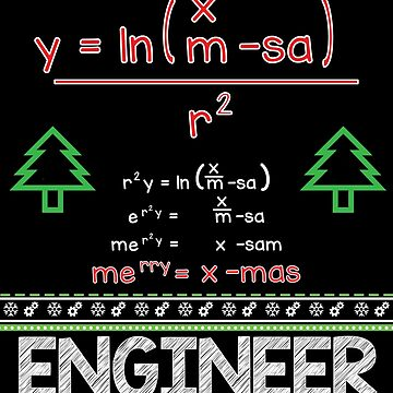 Merry Christmas Mathematical Formula by EngineeringMind