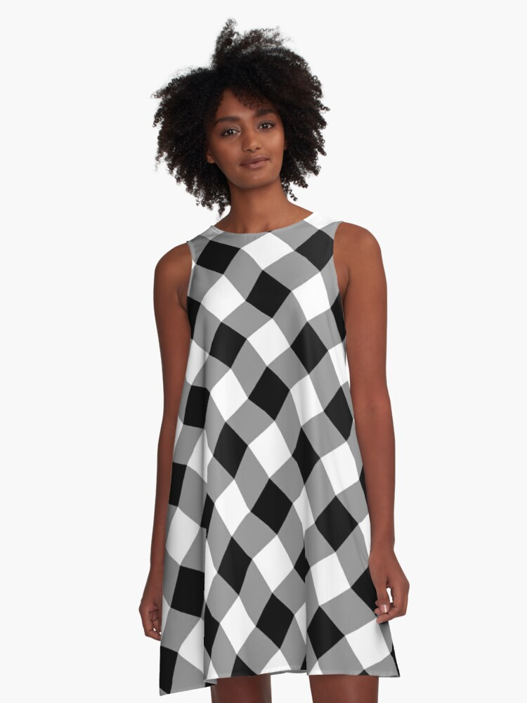 Ginham style A-Line Dress Front