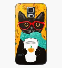 Pumpkin Coffee Cat Case/Skin for Samsung Galaxy