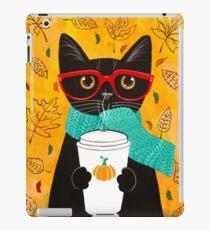 Kürbis Kaffee Katze iPad-Hülle & Klebefolie