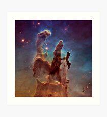 Pillars of Creation, Eagle nebula, space exploration Art Print