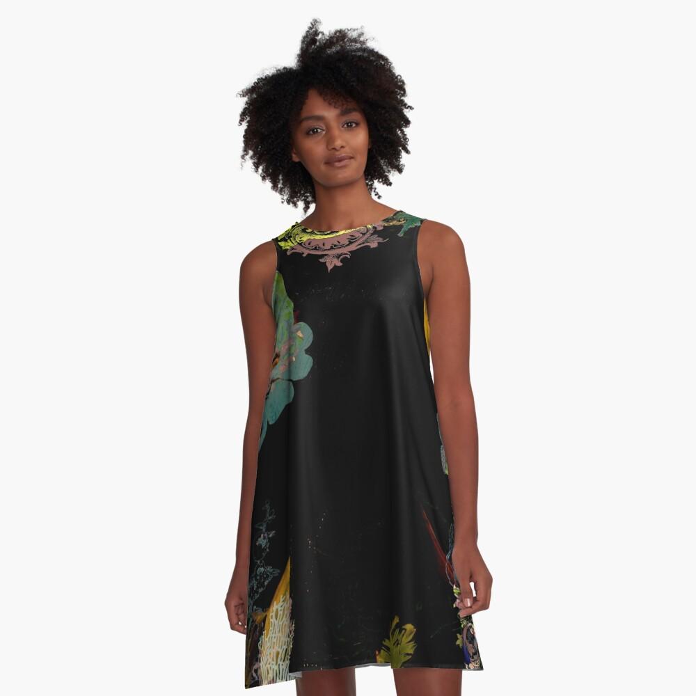 Aliana Fabric by Hyndussidart.com A-Line Dress Front