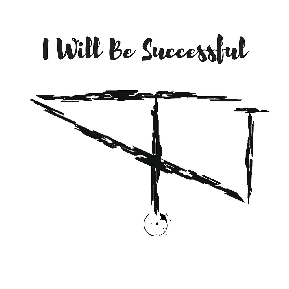 I Will Be Successful Paint Sigil by Witchcraft Artifact