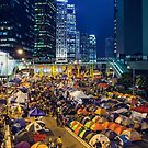 Umbrella Revolution in Hong Kong 2014 by kawing921