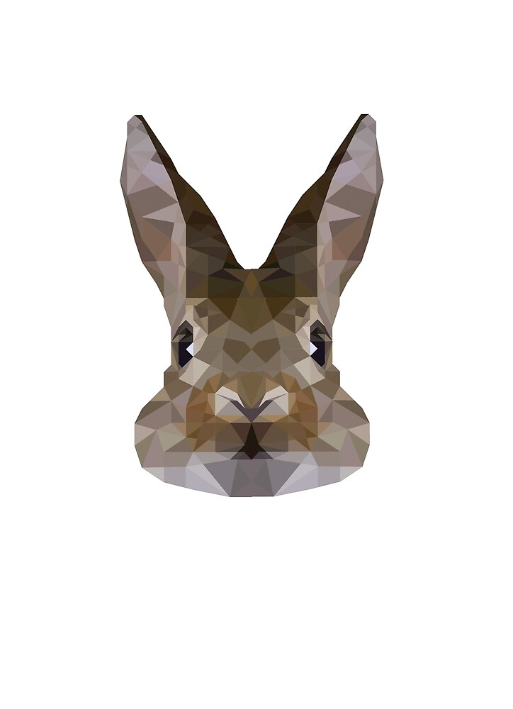 rabbit low poly by krisztinaart