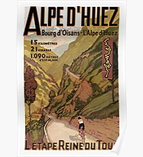 Vintage French sponsored Swiss Alps sport bicycle tour advert Poster