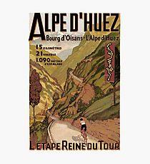 Lámina fotográfica Anuncio francés de la gira de ciclismo deportivo Swiss Alps patrocinado por French Alps