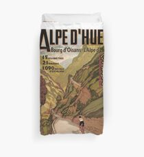 Vintage French sponsored Swiss Alps sport bicycle tour advert Duvet Cover