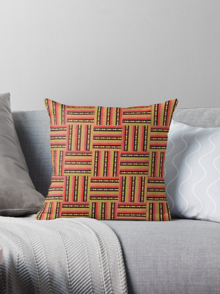 Chic Basket Weave Pattern with Polka Dots to Customize by Judy Adamson