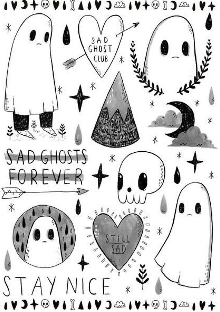 sad ghosts by ericleeart