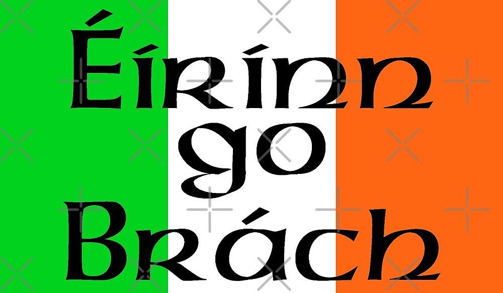 Large Irish Flag with Éirinn go Brách (Erin go Bragh) by litmusician