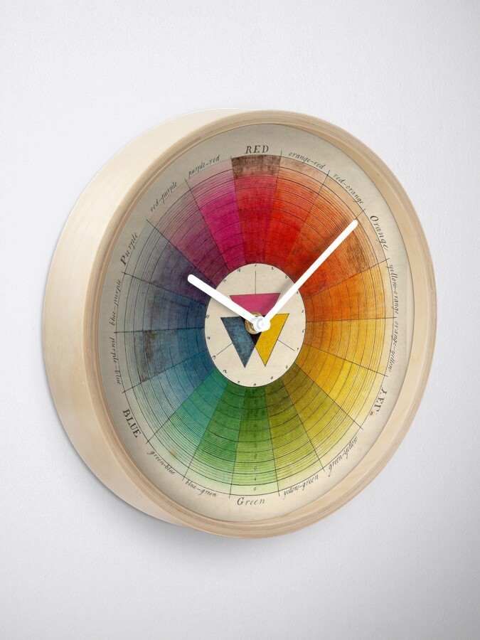 Alternate view of Vintage color wheel Design, color theory Clock