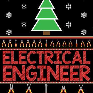 Electrical Engineer Christmas Jumper by EngineeringMind