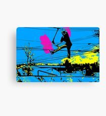 Tailgating - Stunt Scooter Tricks Canvas Print