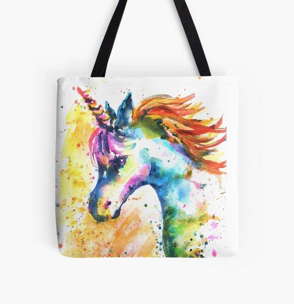 Unicorn Splash All Over Print Tote Bag