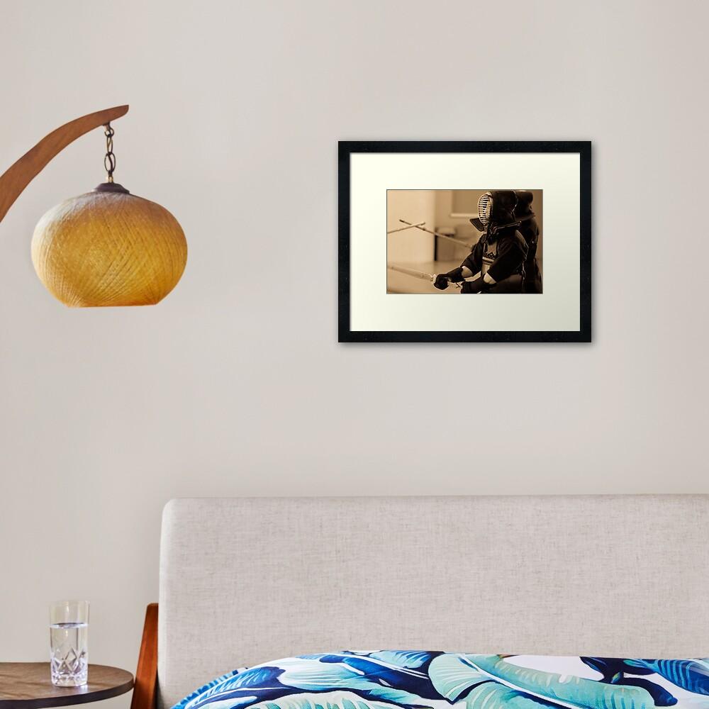 Kendo Lineup Framed Art Print