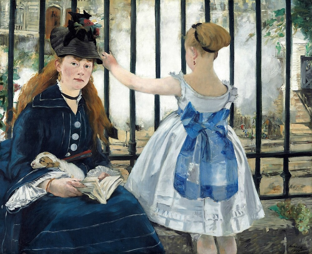 The Railway by Edouard Manet by classicartcache