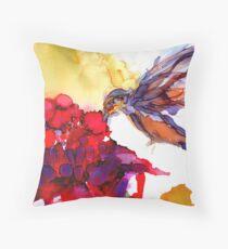 Little Yummy Hummingbird Throw Pillow