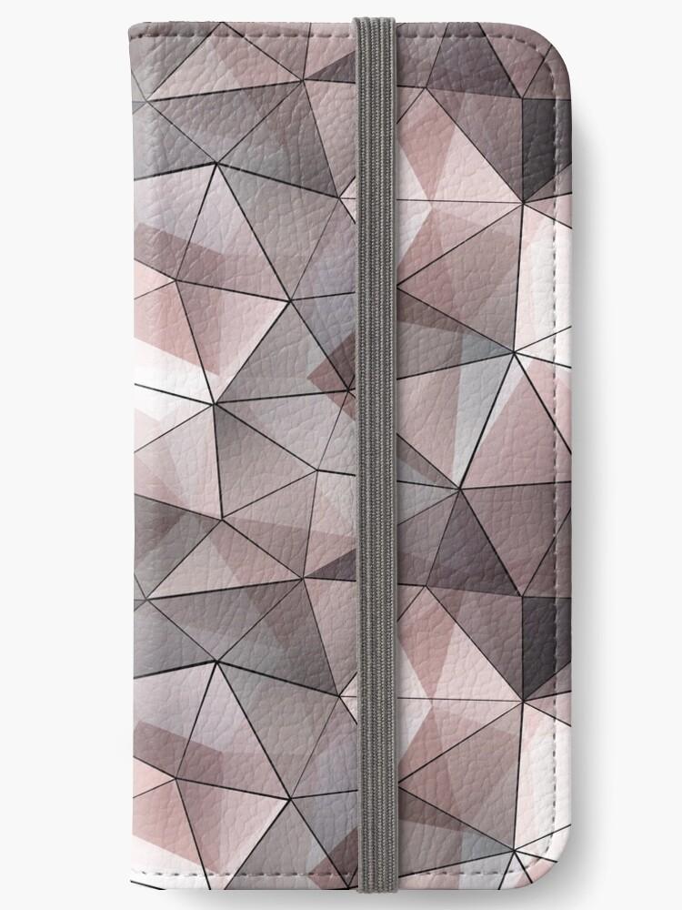 Beige, grey, white polygonal pattern. by marinaklykva