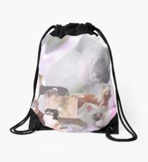 Chinese Crested Dogs Drawstring Bag