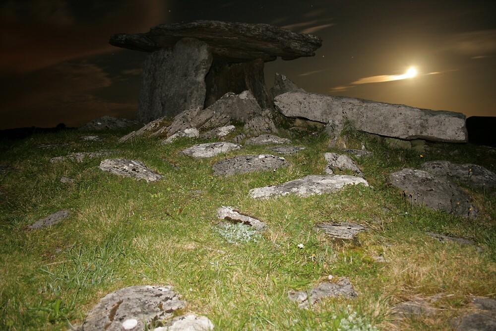 Night at Poulnabrone Dolmen 1 by John Quinn