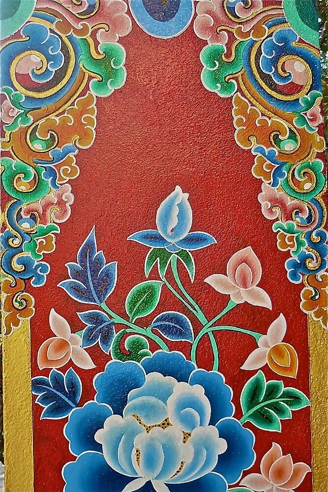 Tibetan Flower Painting by Timaeon
