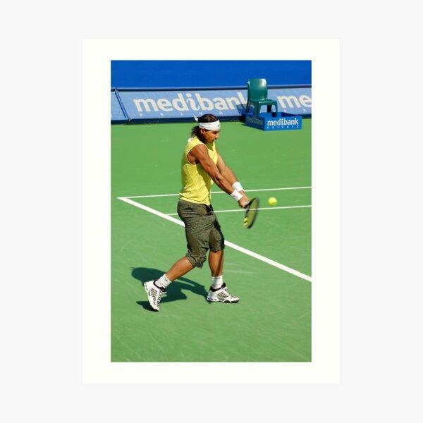 Backhand (Rafael Nadal) Art Print
