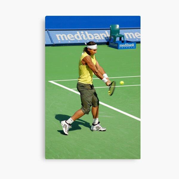 Backhand (Rafael Nadal) Canvas Print