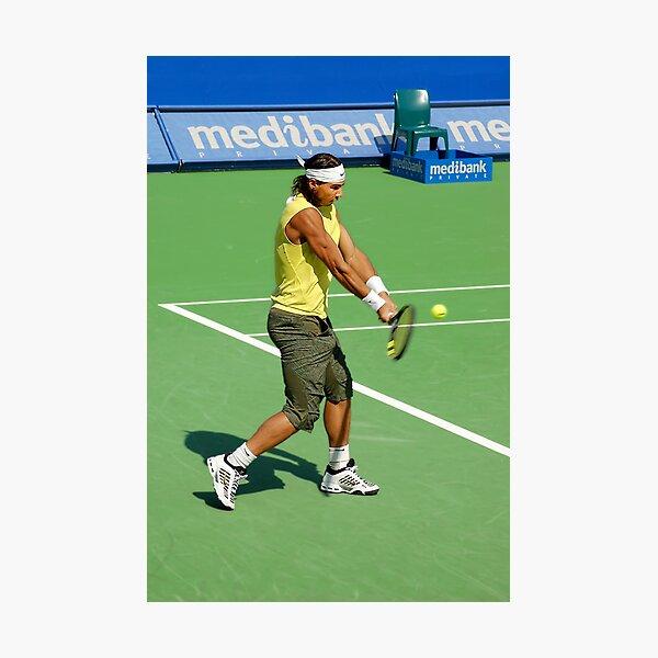 Backhand (Rafael Nadal) Photographic Print