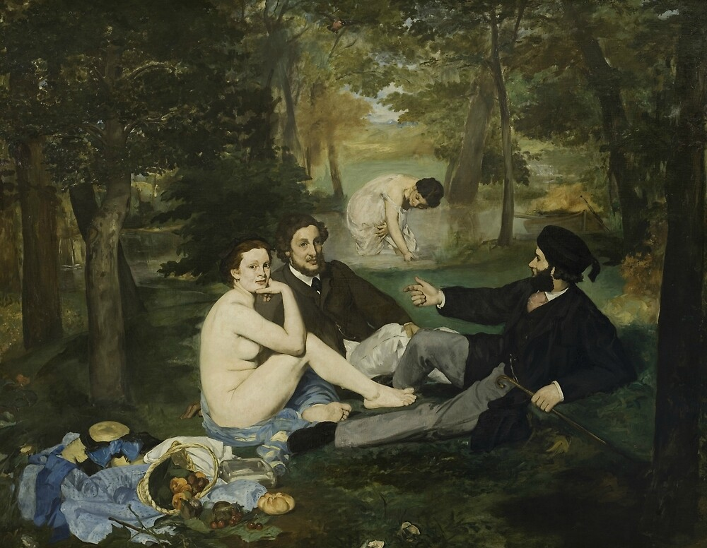 Luncheon on the Grass by Edouard Manet by classicartcache