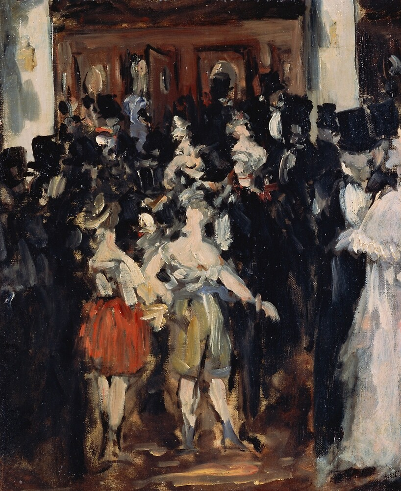 Masked Ball at the Opera by Edouard Manet by classicartcache