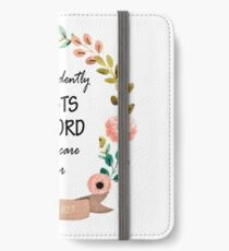 Psalm 112:7 Bible Verse iPhone Wallet/Case/Skin
