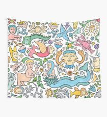 Many many monstrous things Wall Tapestry
