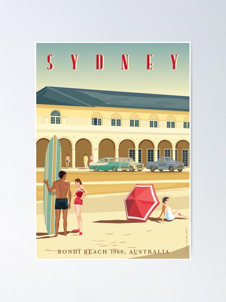 Alternate view of Sydney, Bondi Bathers Pavilion, 1960 Poster