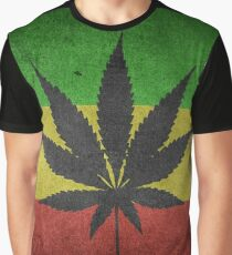 Weed Flag Graphic T-Shirt