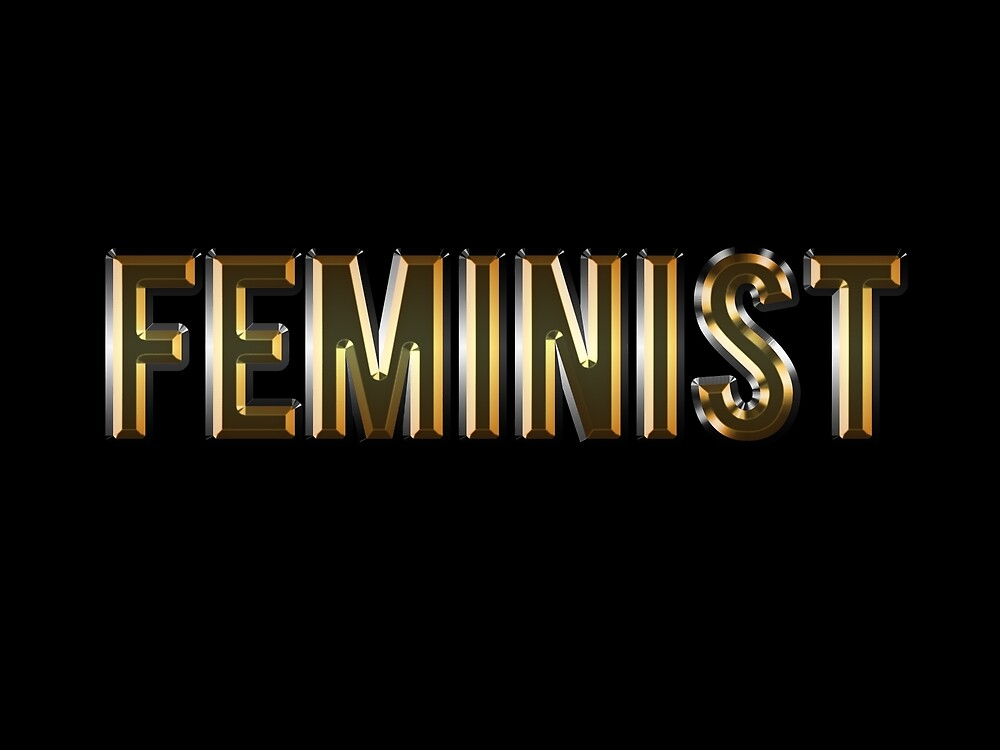FEMINIST (GOLD) by starkle