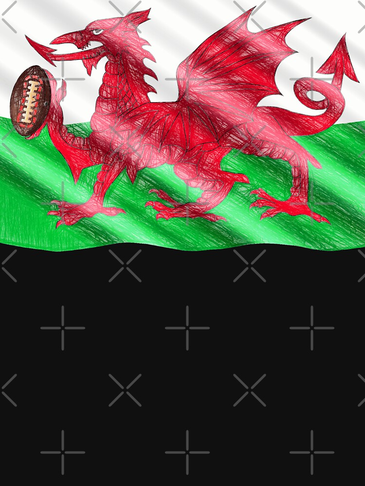 Welsh Flag-Dragon with Rugby ball by broadmeadow