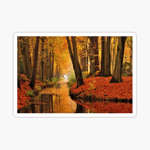 Remembering autumnal dreamland Sticker