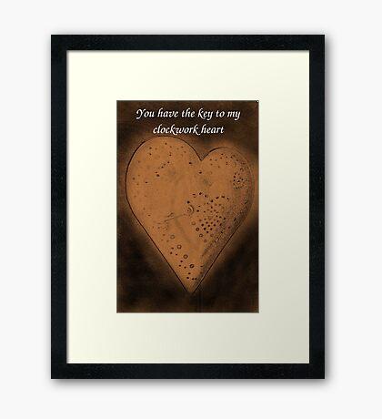 Clockwork Valentine Framed Print